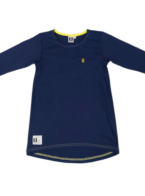 501-72_Girls_Tunic_Blue-Yellow