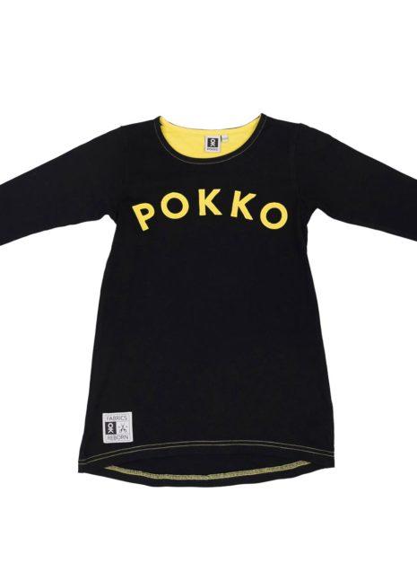 501-76_Girls_Tunic_Black-Yellow